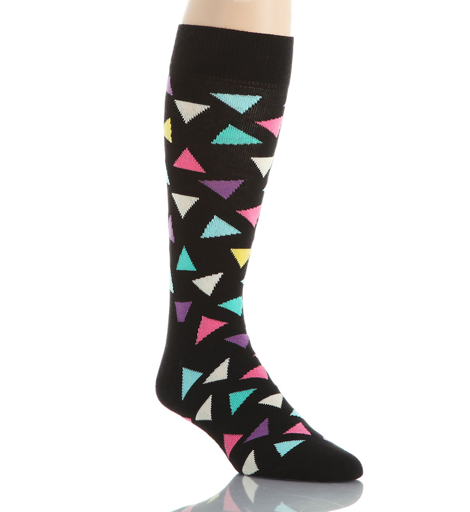 Happy Socks Combed Cotton Big Triangles Crew Sock BT01-099 - Happy ...