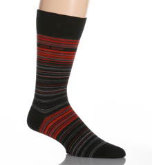 Hugo Boss Combed Cotton Multi-stripe Sock 0259927