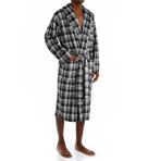 Matte Silky Plaid Fleece Robe Image