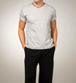 Joseph Abboud Short Sleeve V-Neck Shirt 015633