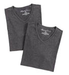 Super Fine Cotton V-Neck T-Shirts - 2 Pack Image