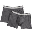Super Fine Cotton Boxer Briefs - 2 Pack Image