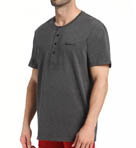 Short Sleeve Henley Sleep Top Image