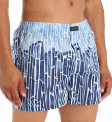 Kenneth Cole Reaction Blue York City Distress Print Woven Boxer REM3205