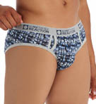 Blue York Camo Stripe Brief Image