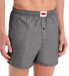 Single Pack 100% Cotton Chambray Boxers Image