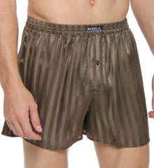 Mansilk Stripe Jacquard Silk Boxer M333S