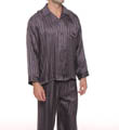 Mansilk Striped Jacquard Pajama Set M415JA