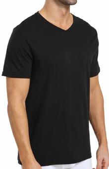 Michael Kors Soft Touch Cotton Modal V-Neck T-Shirts - 3 Pack 09M0586