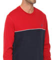 Colorblock Knit Crew Image