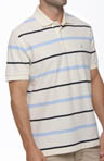 Short Sleeve Perfomance Pique Striped Polo Image