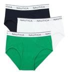 Nautica Assorted Full Cut Briefs - 3 Pack UR3413