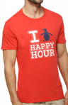 Penguin Happy Hour Crewneck Graphic Tee Image