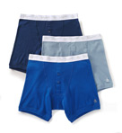 100% Cotton Button Boxer Brief - 3 Pack Image