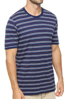 Pact Americana Stripe Crew Neck T-Shirt MSCAMS