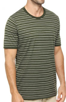 Pact Duffle Bag Stripe Crew Neck T-Shirt MSCDBS