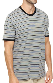 Pact Gravel Stripe Crew Neck T-Shirt MSCGRS