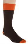 Dark Chocolate Waffle Knit Crew Sock Image