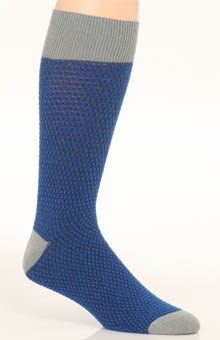 Pact Electric Blue Waffle Knit Crew Sock MSKEBW