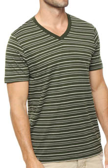 Pact Duffle Bag Striped V-Neck T-Shirt MSVDBS
