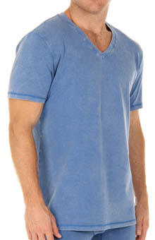 Papi 980804 Mineral Wash V-Neck T-Shirt