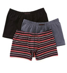 Cotton Stretch Striped Boxer Briefs- 3 Pack Image