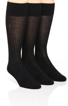 Polo Ralph Lauren Viscose Rib Crew Socks with Arch Support - 3 Pack 8084PK