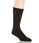 Cotton Crew Sock with Polo Embroidery Image