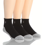 Split Color Cushioned Quarter Top Socks - 3 Pack Image