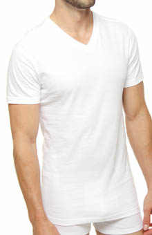 Polo Ralph Lauren Slim Fit Cotton V-Neck T-Shirts - 3 Pack P646