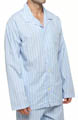 Woven Cotton Long Sleeve Pajama Top Image