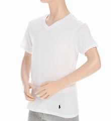 Polo Ralph Lauren Boys V-Neck Classic Cotton T-Shirt - 2-Pack RK02