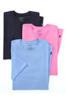 Classic Fit 100% Cotton Crew Shirts - 3 Pack Image