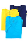 Classic Fit 100% Cotton V-Neck Shirts - 3 Pack Image