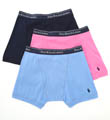 Classic Fit 100% Cotton Boxer Briefs - 3 Pack Image