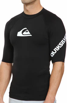Quiksilver All Time Short Sleeve Rash Guard AQYWR34