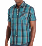 RVCA Goldy Short Sleeve Plaid Woven Shirt M7504GOL