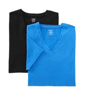 2xist Stretch Cotton V-Neck T-Shirt - 2 Pack 21241