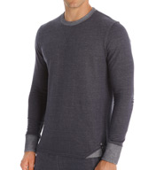 Buffalo David Bitton 100% Cotton Terry V-Notch Crew BD22622