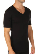 Calida Business Class Short Sleeve V-Neck T-Shirt 14965