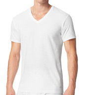 Calvin Klein Cotton Classic Short Sleeve V-Neck Tees - 3 Pack M4065