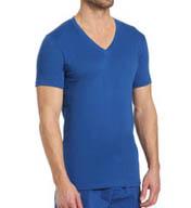 Calvin Klein Dual Tone Short Sleeve V-Neck U3075