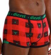 Diesel Semajo Plaid Cotton Boxer Brief CZGFTADU