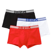 Diesel Shawn Cotton Stretch Boxer Shorts - 3 Pack SAB2LAHY