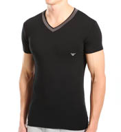 Emporio Armani Grey Insert Stretch Cotton V-Neck 1108104A