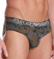 Emporio Armani Camouflage Stretch Cotton Brief 1108145P