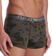 Emporio Armani Camouflage Stretch Cotton Trunk 1113895P