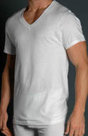 Fruit Of The Loom Big Man Core 100% Cotton V-Neck T-Shirts - 3 Pack 2525VX