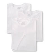 Fruit Of The Loom Tall Man's 100% Cotton White Crew T-Shirts- 3 Pack 2790TM