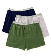Fruit Of The Loom Big Man Exposed Waistband Knit Boxers - 3 Pack 3P722X